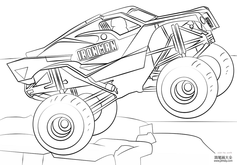 怪物卡车动画片|钢铁侠怪物卡车