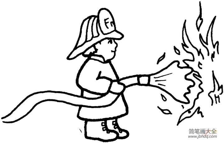 消防员人物简笔画