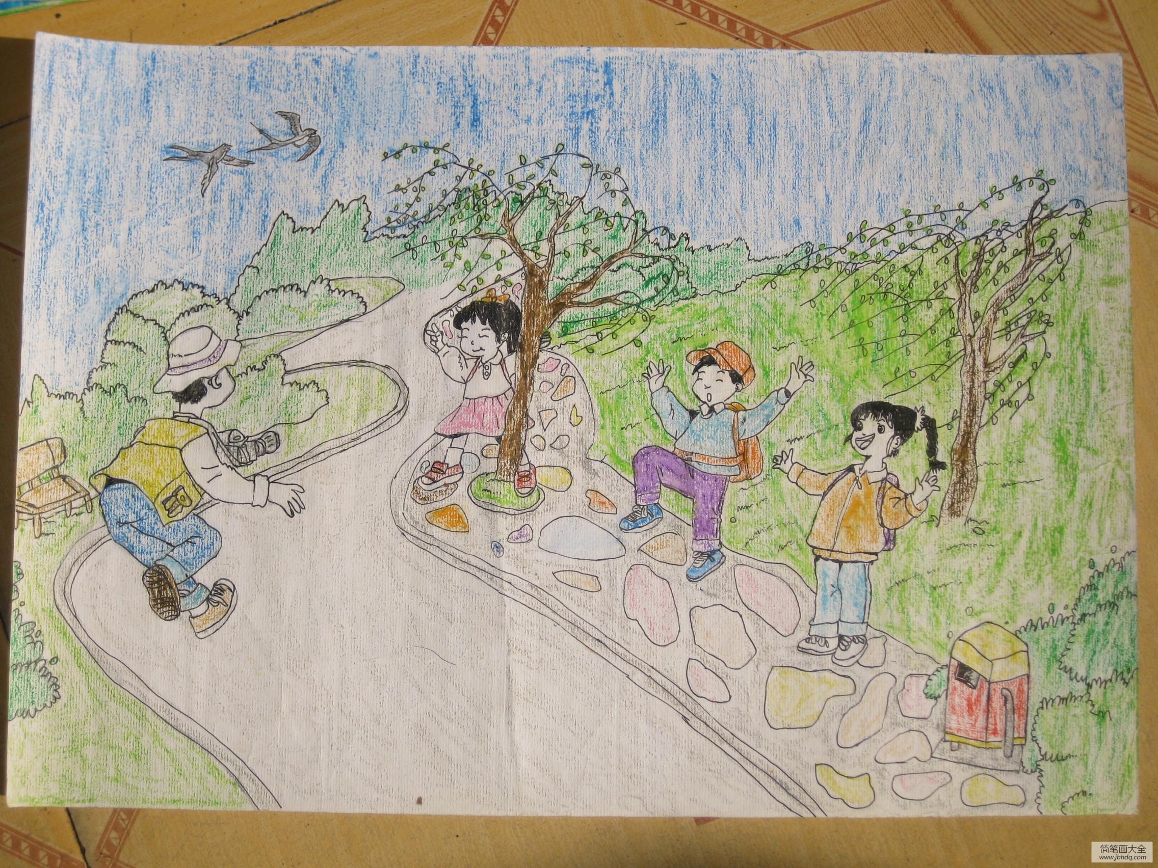 儿童画画学习|儿童画雷锋图像-快乐的生活