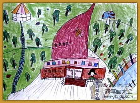 学雷锋日|学雷锋儿童画-雷锋精神在我们心中