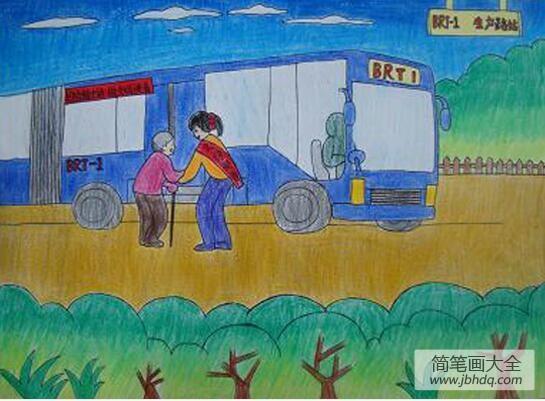 中国青年志愿者_青年志愿者学雷锋主题活动绘画