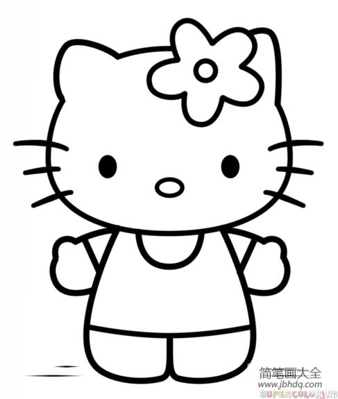 [hello kitty 简笔画]Hello,Kitty简笔画教程