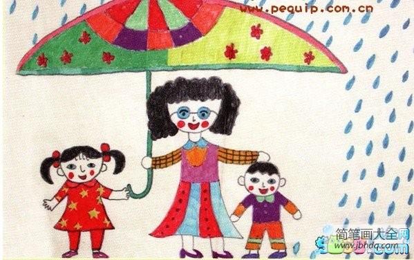 三八妇女节的来历简介_三八妇女节儿童画-妈妈为我们遮风避雨