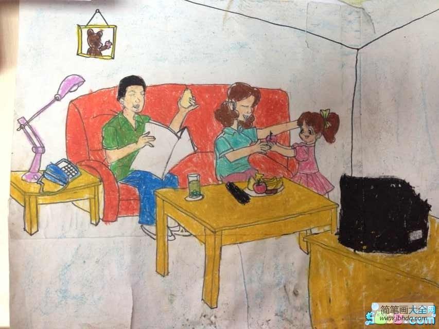 儿童画画学习_儿童画妇女节图片-妈妈吃苹果