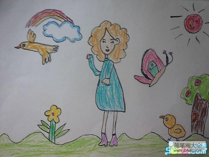 三八妇女节的来历简介_三八妇女节儿童画-始终面带微笑的妈妈