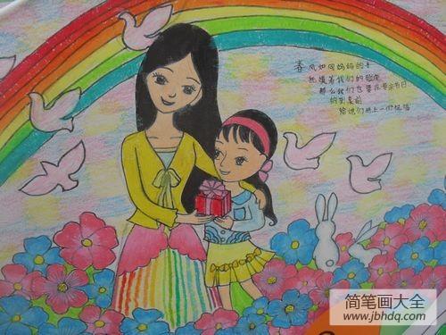 [关于妇女节的作文]关于妇女节的儿童画-送礼物给妈妈