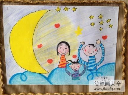 三八妇女节手抄报图片大全_三八妇女节绘画大全-幸福的一家人