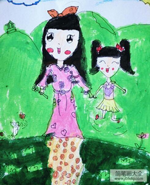 驴妈妈|和妈妈一起去春游三八妇女节主题画欣赏