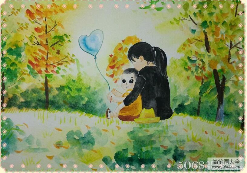 三八妇女节的来历简介_我和妈妈三八妇女节儿童画教师范画
