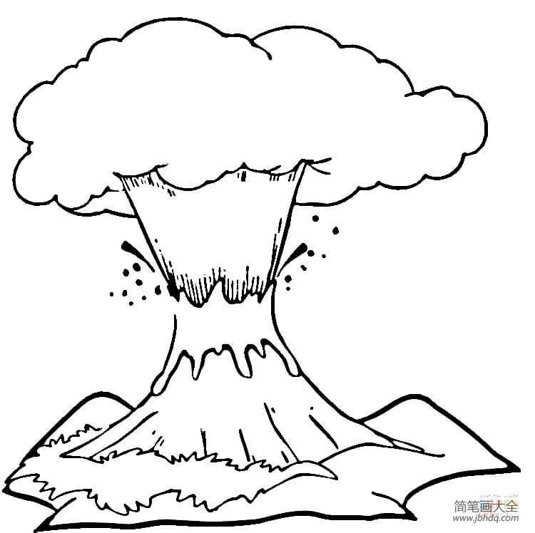 [让火山喷发]火山喷发怎么画