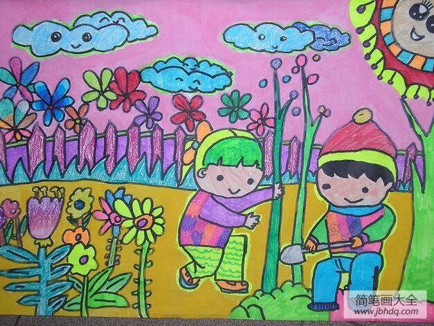 【第一次中东战争】第一次种树记四年级植树节绘画图片欣赏
