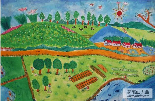 【希望的田野歌词】希望的田野画一幅植树节的画