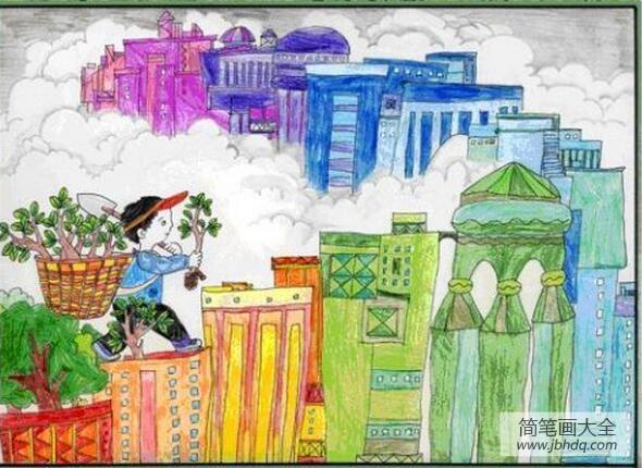 快乐的植树节作文|植树节的快乐四年级植树节画画图片