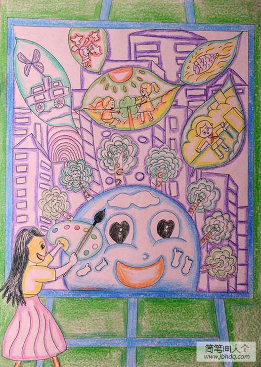 描绘蓝图是什么意思|描绘环保蓝图植树节创意画欣赏