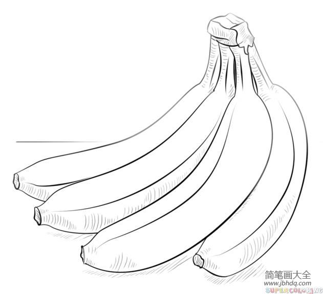 【香蕉怎么画】如何画香蕉