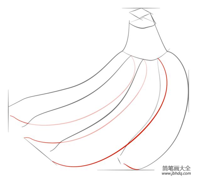 如何画香蕉