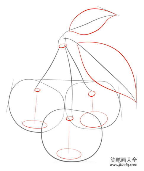 如何画樱桃