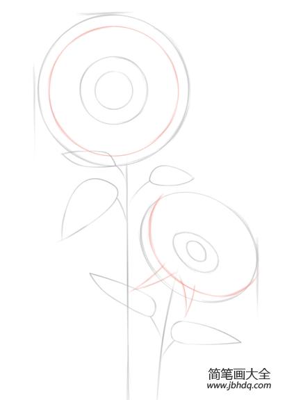 如何画向日葵