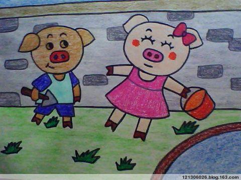 儿童画画学习|儿童画,可爱的小猪